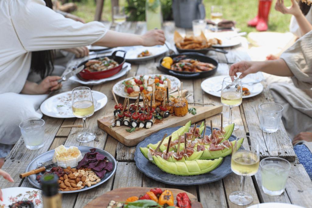 zdrowe jedzenie na imprezie